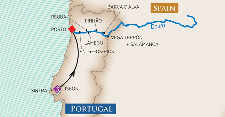 Portugal & Douro River Cruise Map 2018