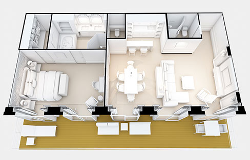 Layout Deluxe Grand Suite
