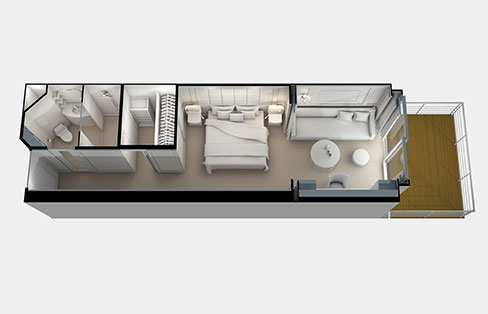 Layout Deluxe Veranda Suite