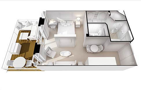 Layout Penthouse Suite