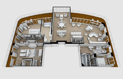 Layout Regent Suite